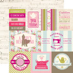 Echo Park - Grandma Collection - 12 x 12 Double Sided Paper - Journaling Cards