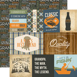 Echo Park - Grandpa Collection - 12 x 12 Double Sided Paper - Journaling Cards