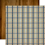 Echo Park - Grandpa Collection - 12 x 12 Double Sided Paper - Grandpa Plaid