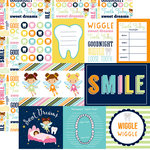 Echo Park - Tooth Fairy Collection - 12 x 12 Double Sided Paper - Journaling Cards