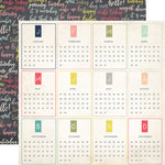 Echo Park - Everyday Memories Collection - 12 x 12 Double Sided Paper - Months of the Year