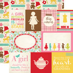 Echo Park - Granddaughter Collection - 12 x 12 Double Sided Paper - Journaling Cards