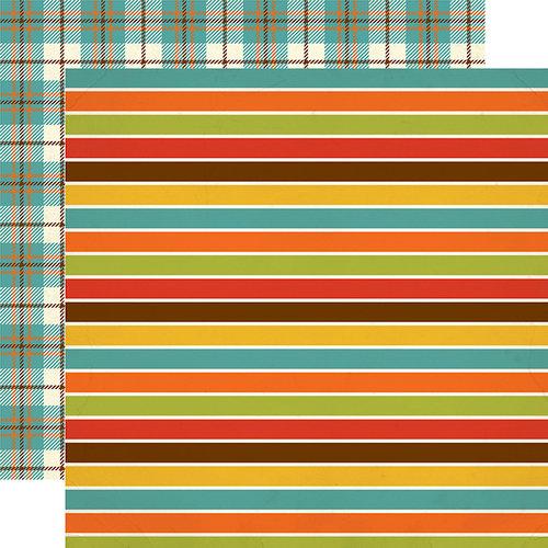 Echo Park - Grandson Collection - 12 x 12 Double Sided Paper - Grandson Stripes