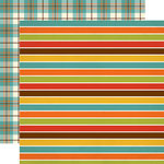 Echo Park - Grandson Collection - 12 x 12 Double Sided Paper - Grandson Stripes