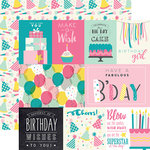 Echo Park - Birthday Girl Collection - 12 x 12 Double Sided Paper - Journaling Cards
