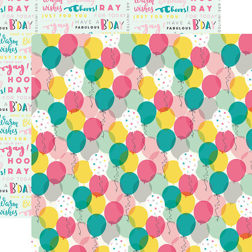 Echo Park - Birthday Girl Collection - 12 x 12 Double Sided Paper - Celebrate