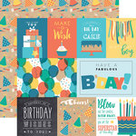 Echo Park - Birthday Boy Collection - 12 x 12 Double Sided Paper - Journaling Cards