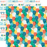 Echo Park - Birthday Boy Collection - 12 x 12 Double Sided Paper - Balloons