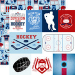 Echo Park - Hockey Collection - 12 x 12 Double Sided Paper - Journaling Cards