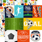 Echo Park - Soccer Collection - 12 x 12 Double Sided Paper - Journaling Cards