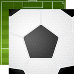 Echo Park - Soccer Collection - 12 x 12 Double Sided Paper - Soccer Ball
