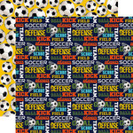 Echo Park - Soccer Collection - 12 x 12 Double Sided Paper - Goal
