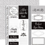 Echo Park - Just Married Collection - 12 x 12 Double Sided Paper - Journaling