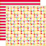 Echo Park - Sweet Girl Collection - 12 x 12 Double Sided Paper - Pie Charts
