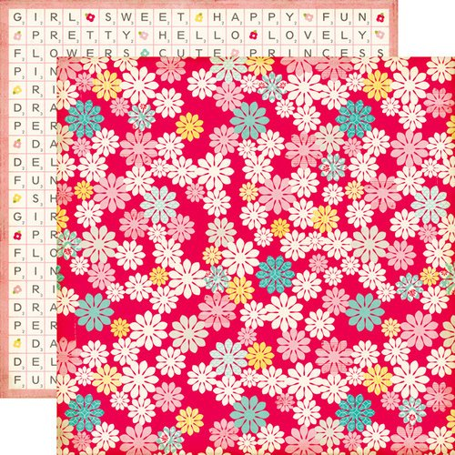 Echo Park - Sweet Girl Collection - 12 x 12 Double Sided Paper - Blossom