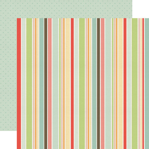 Echo Park - Sweet Day Collection - 12 x 12 Double Sided Paper - Oh My Stripe