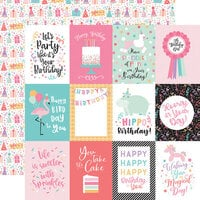 Echo Park - It's Your Birthday Girl Collection - 12 x 12 Double Sided Paper - 3 x 4 Journaling Cards