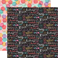 Echo Park - It's Your Birthday Girl Collection - 12 x 12 Double Sided Paper - Birthday Girl Words