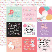 Echo Park - It's Your Birthday Girl Collection - 12 x 12 Double Sided Paper - 4 x 4 Journaling Cards