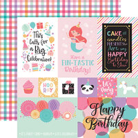 Echo Park - It's Your Birthday Girl Collection - 12 x 12 Double Sided Paper - Multi Journaling Cards
