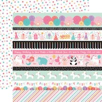 Echo Park - It's Your Birthday Girl Collection - 12 x 12 Double Sided Paper - Border Strips