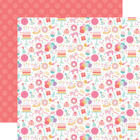 Echo Park - It's Your Birthday Girl Collection - 12 x 12 Double Sided Paper - Birthday Girl Fun