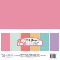 Echo Park - It's Your Birthday Girl Collection - 12 x 12 Paper Pack - Solids