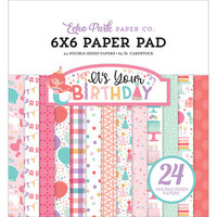 Echo Park - It's Your Birthday Girl Collection - 6 x 6 Paper Pad