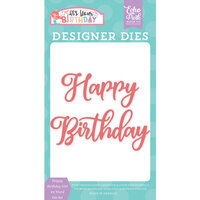 Echo Park - It's Your Birthday Girl Collection - Designer Dies - Happy Birthday Girl - Word Set 2