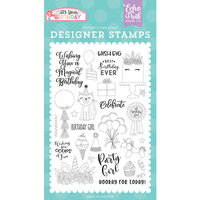 Echo Park - It's Your Birthday Girl Collection - Clear Photopolymer Stamps - Birthday Girl