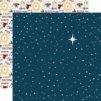 Echo Park - The First Noel Collection - 12 x 12 Double Sided Paper - Starry Night