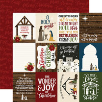 Echo Park - The First Noel Collection - 12 x 12 Double Sided Paper - 3 x 4 Journaling Cards