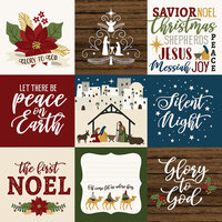 Echo Park - The First Noel Collection - 12 x 12 Double Sided Paper - 4 x 4 Journaling Cards