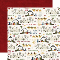 Echo Park - The First Noel Collection - 12 x 12 Double Sided Paper - Joy To The World