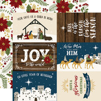 Echo Park - The First Noel Collection - 12 x 12 Double Sided Paper - 6 x 4 Journaling Cards