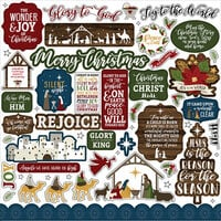 Echo Park - The First Noel Collection - 12 x 12 Cardstock Stickers - Elements