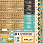 Echo Park - This and That Collection - Charming - 12 x 12 Cardstock Stickers - Alphabet