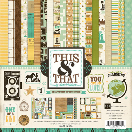 Echo Park - This and That Collection - Charming - 12 x 12 Collection Kit