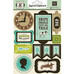 Echo Park - This and That Collection - Charming - Layered Chipboard Stickers