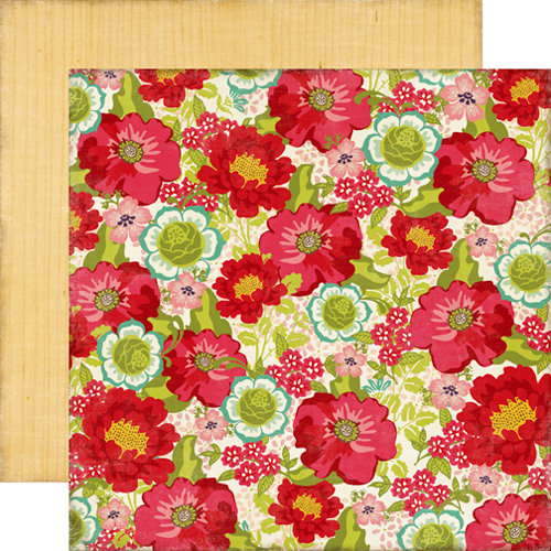 Echo Park - This and That Collection - Graceful - 12 x 12 Double Sided Paper - Flower Box