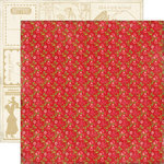 Echo Park - This and That Collection - Graceful - 12 x 12 Double Sided Paper - Red Floral