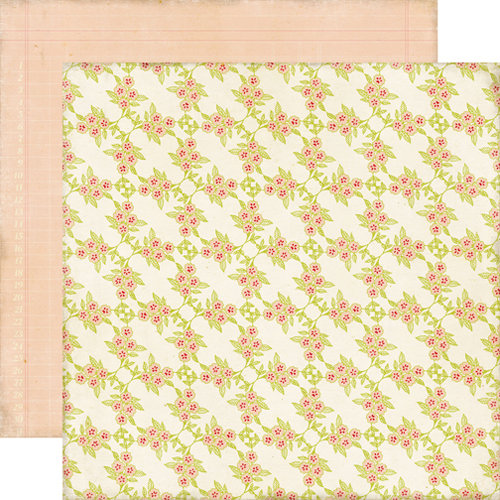 Echo Park - This and That Collection - Graceful - 12 x 12 Double Sided Paper - Flower Vine