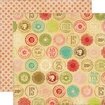 Echo Park - This and That Collection - Graceful - 12 x 12 Double Sided Paper - Wooden Nickel
