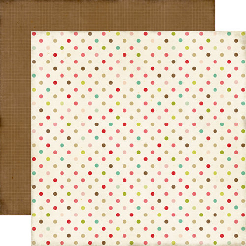 Echo Park - This and That Collection - Graceful - 12 x 12 Double Sided Paper - Dots