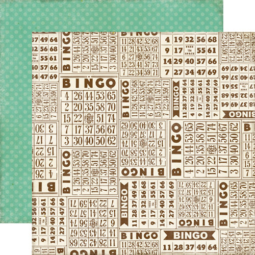Echo Park - This and That Collection - Graceful - 12 x 12 Double Sided Paper - Bingo