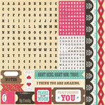 Echo Park - This and That Collection - Graceful - 12 x 12 Cardstock Stickers - Alphabet