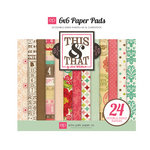 Echo Park - This and That Collection - Graceful - 6 x 6 Paper Pad