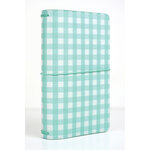 Echo Park - Travelers Notebook - Teal Gingham