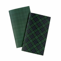 Echo Park - Black Watch Plaid Collection - Travelers Notebook - Insert - Daily Calendar