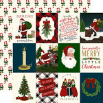 Echo Park - Twas the Night Before Christmas Collection - 12 x 12 Double Sided Paper - Vertical 3 x 4 Journaling Cards